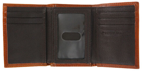Cody James Men's Hair-on-Hide Tri-Fold Concho Leather Wallet, Brown, hi-res