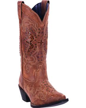Laredo Women's Valencia Cowgirl Boots - Snip Toe, Tan, hi-res