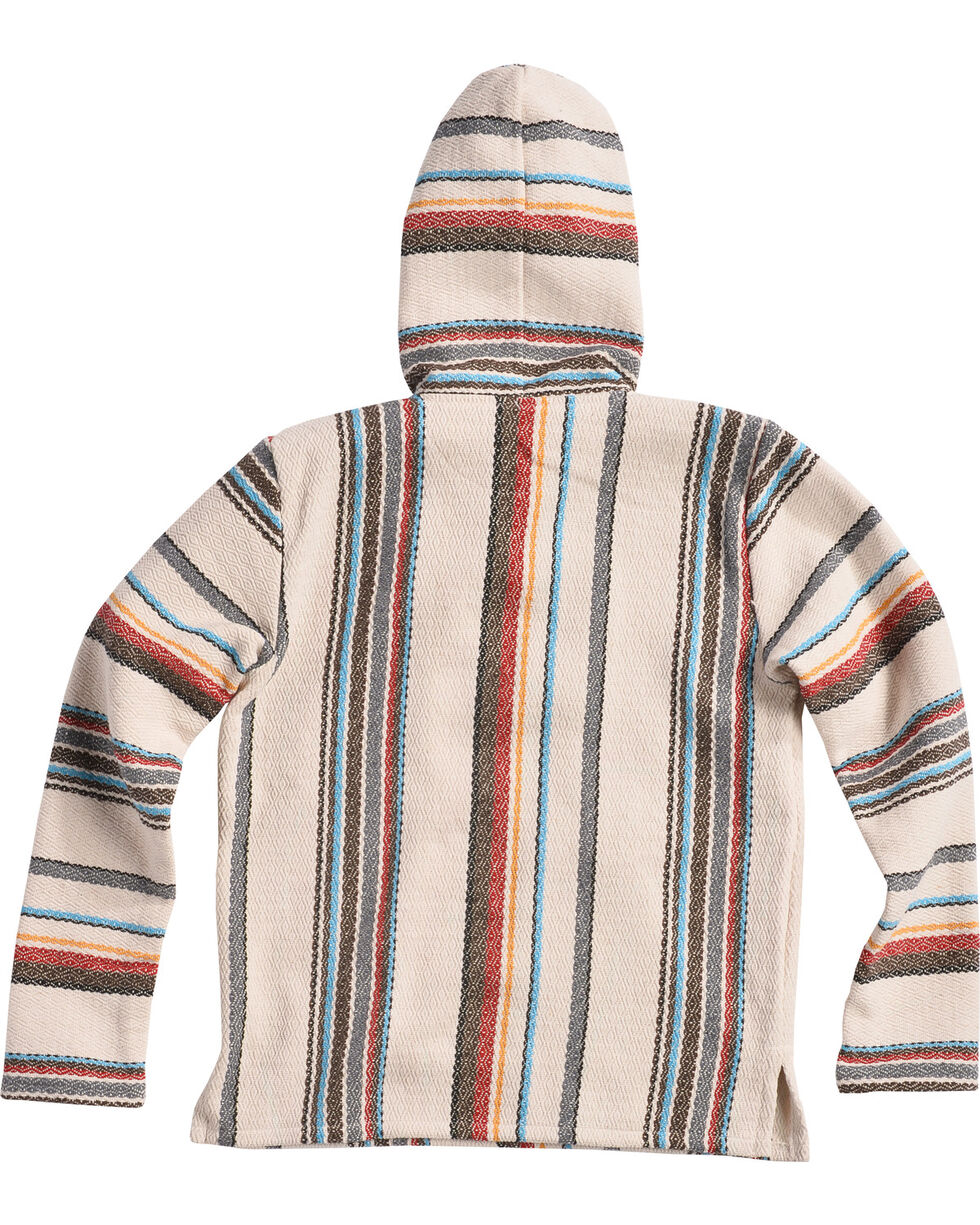 Senor Lopez Men's Cream Baja Pullover, Cream, hi-res