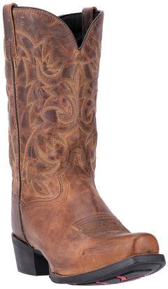 Laredo Bryce Cowboy Boots - Square Toe , Distressed, hi-res