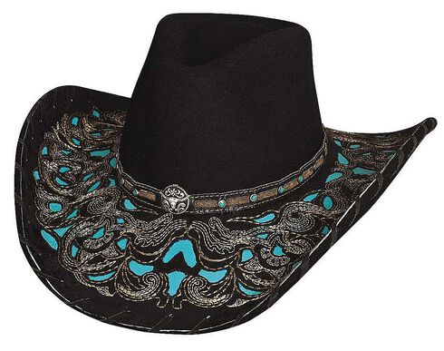 Bullhide Taking My Chances Wool Cowgirl Hat, Black, hi-res