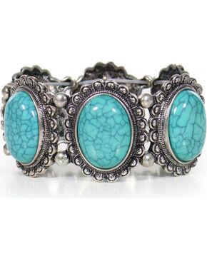 Shyanne Women's Turquoise Concho Bracelet, Silver, hi-res