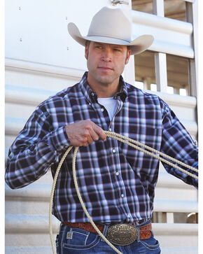 Cinch Men's Classic Fit Plaid Plain Weave Button Down Shirt, Multi, hi-res