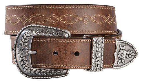Ariat Fatbaby Distressed Leather Belt, Russet, hi-res