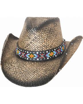 Bullhide Women's Love Myself Straw Hat , Black, hi-res
