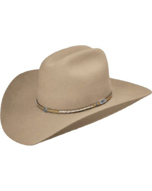 Master Hatters Men's Fawn Viper 3X Wool Felt Cowboy Hat, Beige/khaki, hi-res