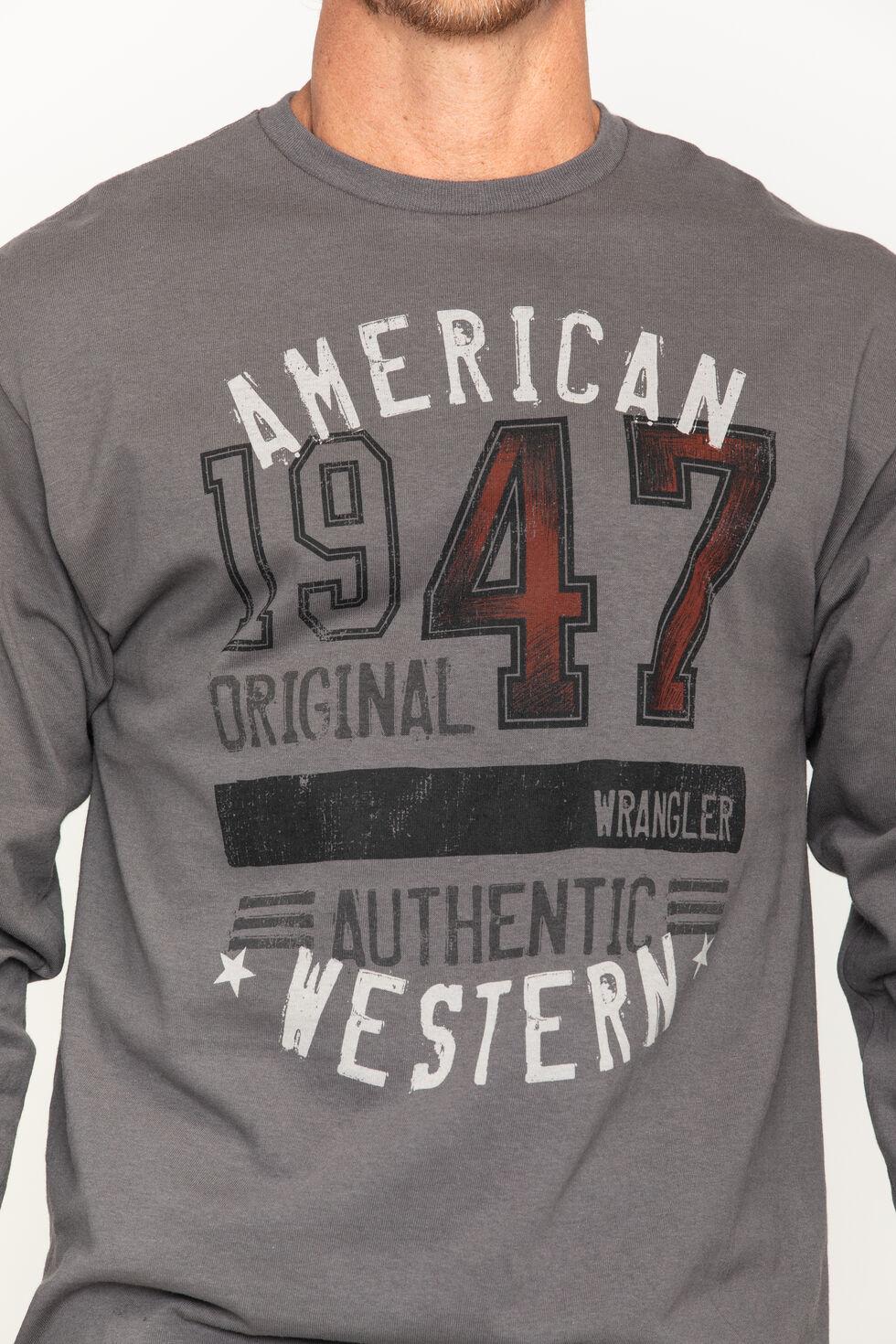 Wrangler Men's 1947 American Western Long Sleeve Tee, , hi-res