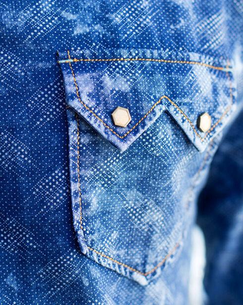 Ryan Michael Men's Blue Vintage Dot Double Face Shirt, Blue, hi-res