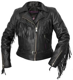 Interstate Leather Fringe Riding Jacket - Reg, , hi-res