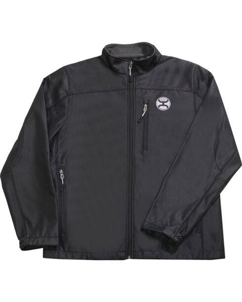 Hooey Men's Black Texture Fleece Lined Jacket , Black, hi-res