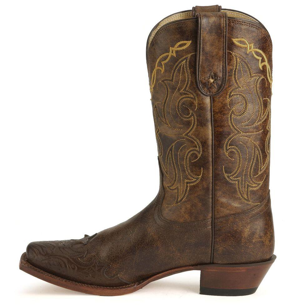Tony Lama 100% Vaquero Cowgirl Boots, Bark, hi-res