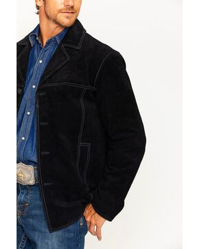 Scully Men's Black Boar Suede Car Coat , Black, hi-res