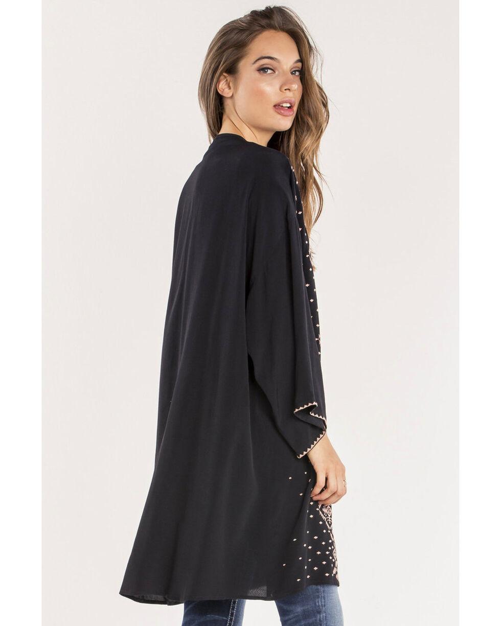 Miss Me Women's Black Bet On Me Kimono , Black, hi-res