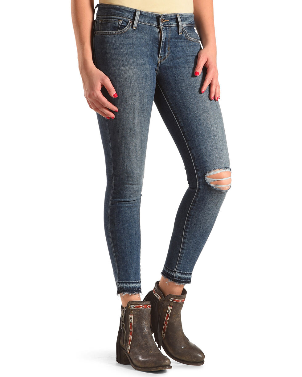 Levi's Women's 711 Off The Cuff Ankle Skinny Jeans, Indigo, hi-res