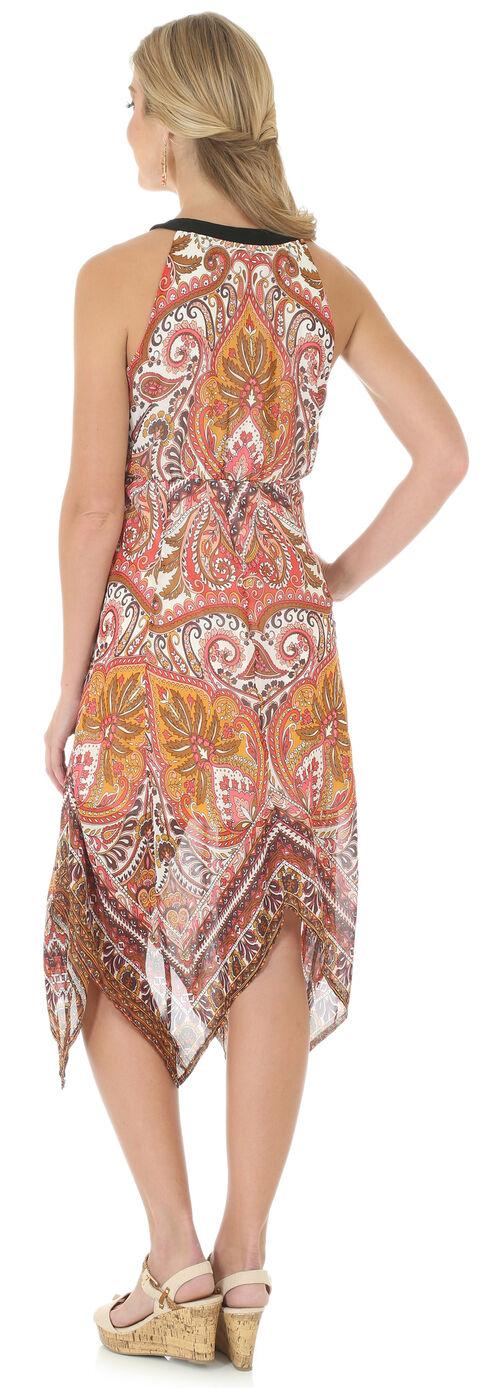 Wrangler Women's Sleeveless Handkerchief Hem Print Dress, Copper, hi-res