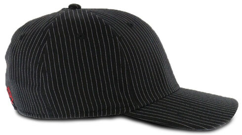 Justin Men's Pin Stripe Flex Ball Cap  , Black, hi-res