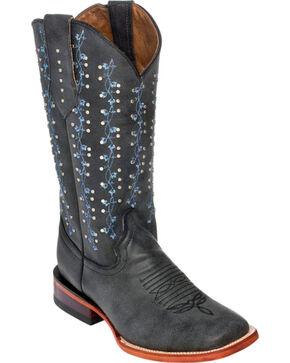 Ferrini Grey Ivy Cowgirl Boots - Square Toe, Grey, hi-res