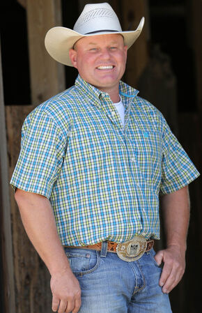 Cinch Men's Multi Short Sleeve Plain Weave Shirt - Big and Tall, Multi, hi-res