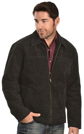 Vintage Leather Men's Black Suede Jacket, Black, hi-res