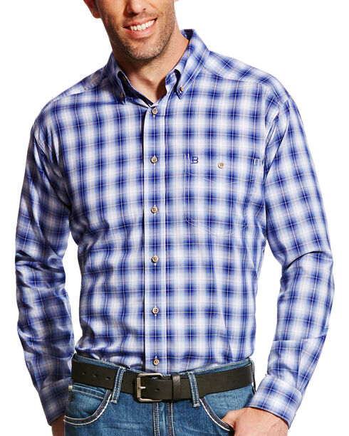 Ariat Men's Blue Unbreakable Plaid Shirt , Blue, hi-res