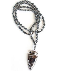 Everlasting Joy Jewelry Black Dark Side Necklace , Black, hi-res