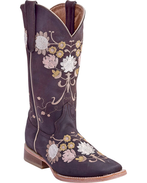 Ferrini Women's Flores Embroidered Western Boots - Square Toe, , hi-res