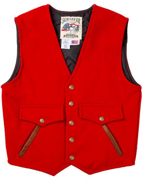 Schaefer Outfitter Men's Red Stockman Melton Wool Vest - XLT, , hi-res