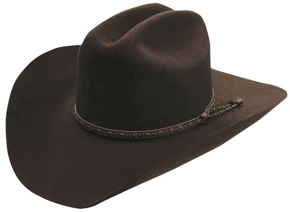 Silverado Chocolate Wool Felt Cowboy Hat, Chocolate, hi-res