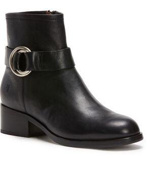 Frye Women's Black Kristen Harness Short Booties - Round Toe , Black, hi-res