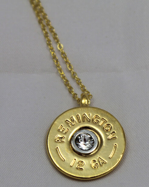 SouthLife Supply Women's Oakley Shotshell Necklace in Traditional Gold with Crystal, Gold, hi-res