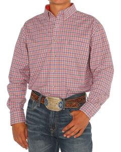 Noble Outfitters Men's Orange Generations Fit Plaid Shirt , Orange, hi-res