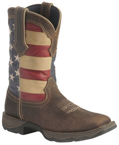 Durango American Flag Flirt Cowgirl Boots - Square Toe, Brown, hi-res