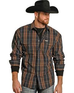 Powder River Outfitters Brown Bandera Brushed Plaid Shirt , Brown, hi-res