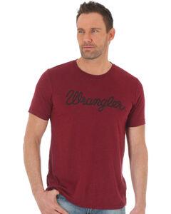 Wrangler Men's Word Mark Western T-Shirt, Red, hi-res