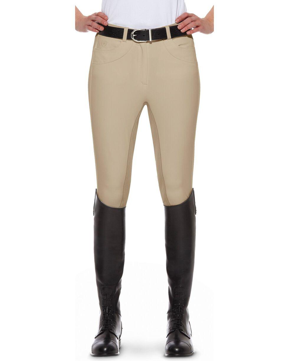 Ariat Olympia Regular Rise Riding Breeches, Beige, hi-res