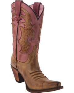 Junk Gypsy by Lane Women's Colbie Boots - Snip Toe , Tan, hi-res