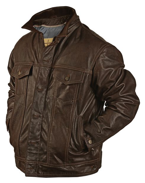 STS Ranchwear Men's Maverick Brown Leather Jacket - Big & Tall - 4XL, Brown, hi-res