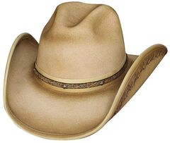 Bullhide Back in Time Wool Hat, Buckskin, hi-res