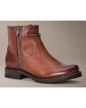 Frye Veronica Seam Short Boots, Brown, hi-res