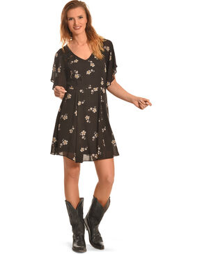 Miss Me Women's Dizzy Daisy Chiffon Dress, Multi, hi-res