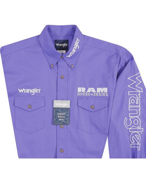 Wrangler Men's Purple Ram Western Logo Shirt - Big and Tall, Purple, hi-res