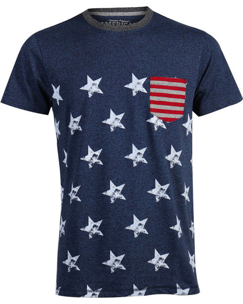 American Republic Men's Stars and Stripes T-Shirt, Blue, hi-res