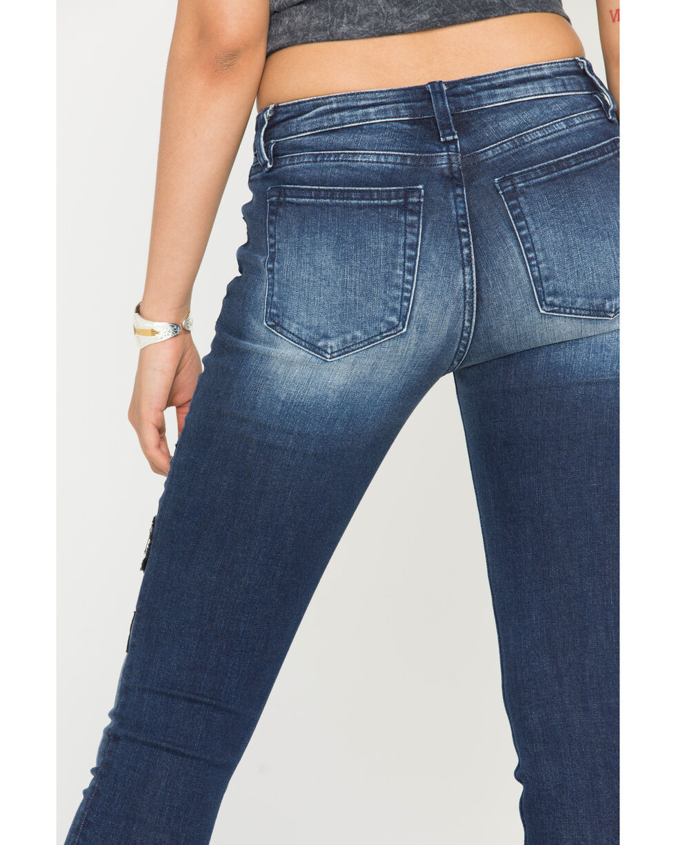 Miss Me Women's Nothing But Love Mid-Rise Ankle Skinny Jeans , Indigo, hi-res