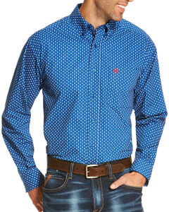 Ariat Men's Blue Rico Print Long Sleeve Shirt , Blue, hi-res