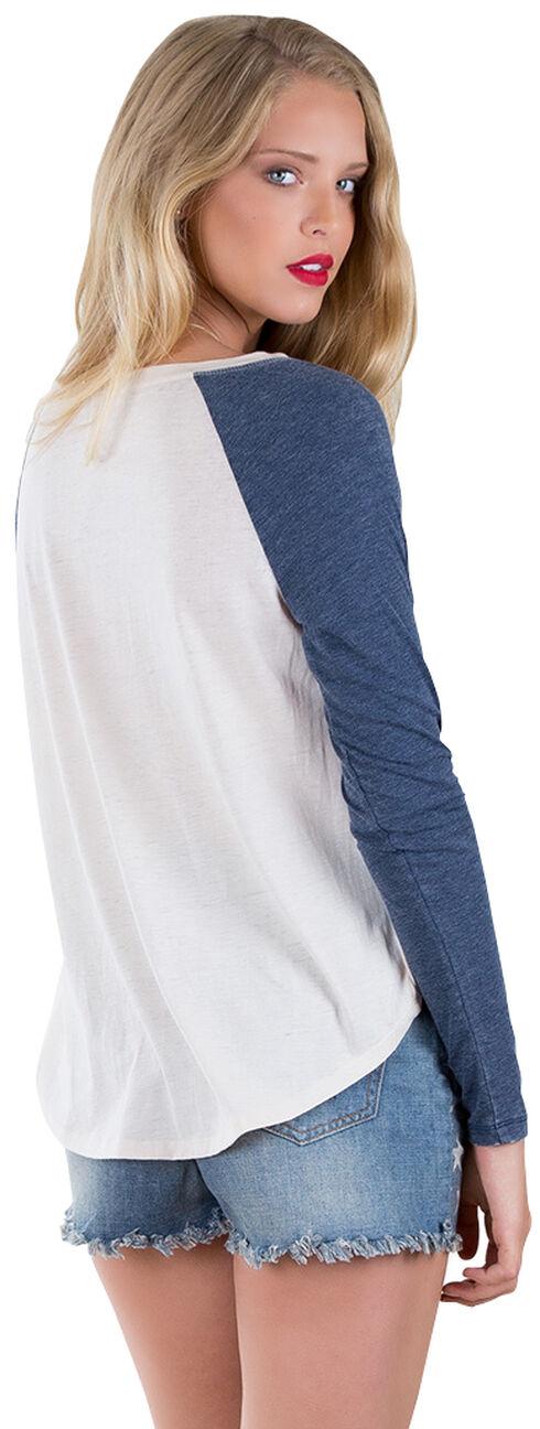 Others Follow Women's American Pie Long Sleeve Baseball T-Shirt , Sand, hi-res