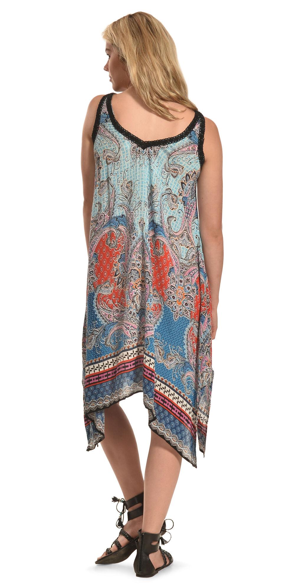Bila Women's Sleeveless Draped Hem Dress , Blue, hi-res