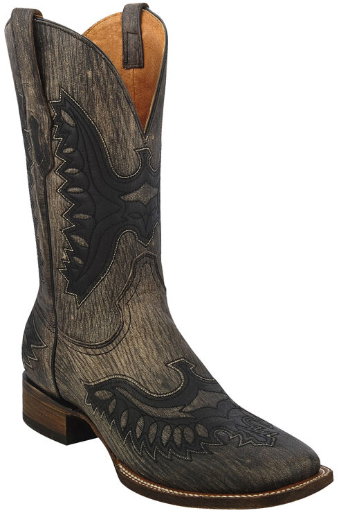 Corral Brown Shaded Eagle Cowboy Boots - Square Toe , Brown, hi-res