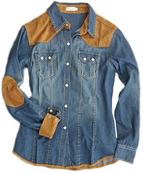 Tasha Polizzi Women's Skyler Shirt, Denim, hi-res
