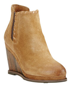 Ariat Women's Soho Sand Belle Wedge Boots - Round Toe , , hi-res