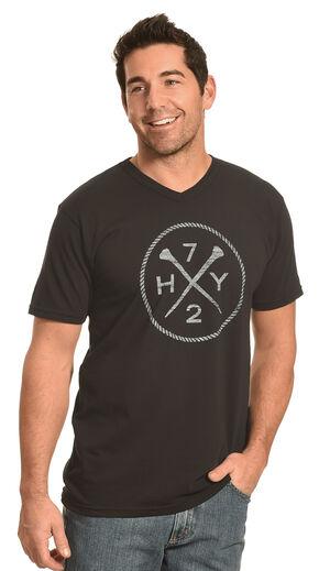 Hooey Men's Black HY72 V-Neck T-Shirt , Black, hi-res